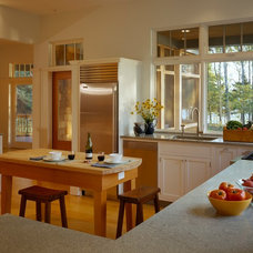 Transitional Kitchen by Eric A Chase Architecture