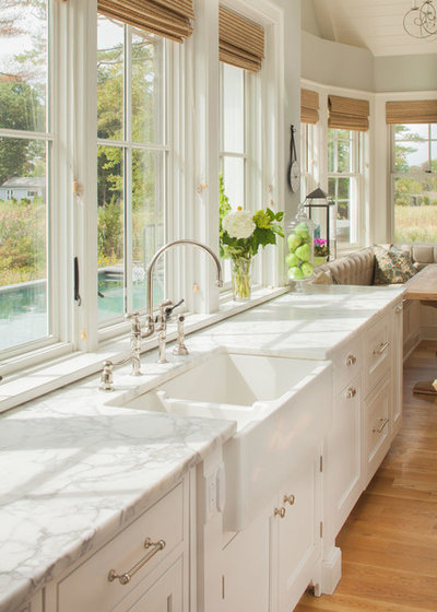 Beach Style Kitchen by Connecticut Stone