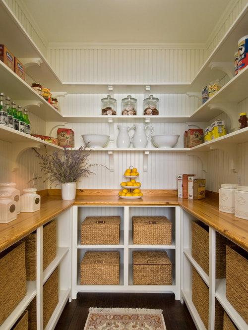 Beadboard paneling houzz for Modern walk in pantry