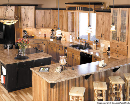 Stained Hickory Cabinets Houzz