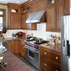 Shaker Cherry Beaded Inset Kitchen Traditional Kitchen