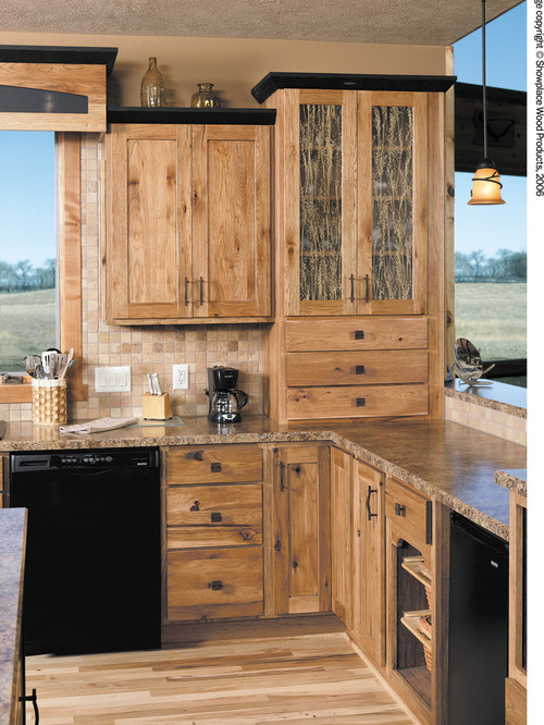 Rustic Hickory Cabinets Houzz