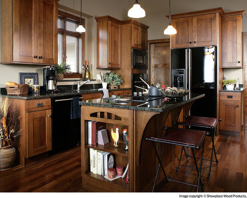 Black kitchen appliances houzz for Traditional kitchen appliances