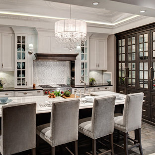Contemporary kitchen pictures - Trendy kitchen photo in Chicago with shaker cabinets