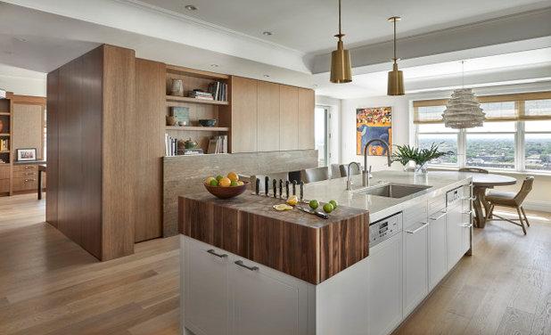 Современный Кухня by Jaffe Architecture + Interiors