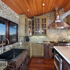 Transitional Kitchen by APlus Interior Design & Remodeling