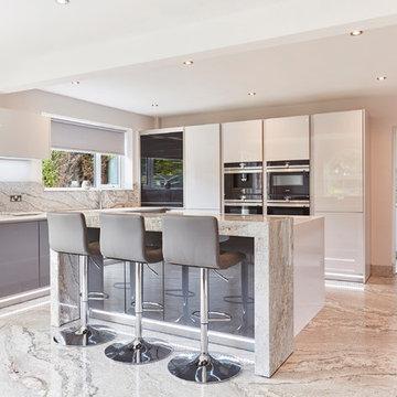 Silk Grey & Classic Grey handle-less kitchen