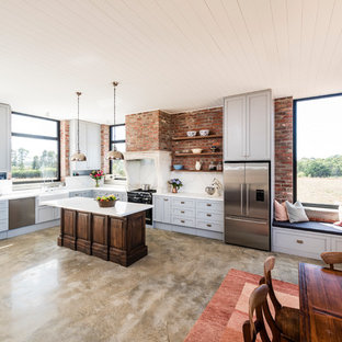 This Is An Example Of An Expansive Country L Shaped Open Plan Kitchen In  Melbourne