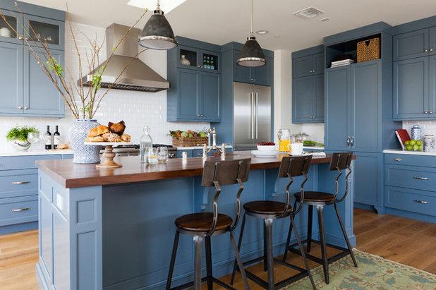 Transitional Kitchen by Richard Haynes Development