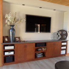 Contemporary Home Theater by EXPERT WOODWORKING