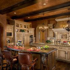 Mediterranean Kitchen by C. Stark Design inc.