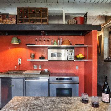 Simple, bold kitchen