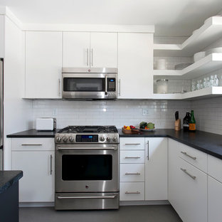 Simple, Clean Lines in this White Kitchen
