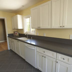 Simple White Galley Kitchen - Traditional - Kitchen - Minneapolis - by CliqStudios