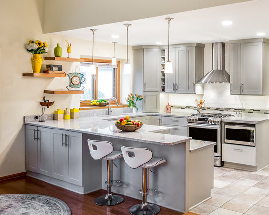 U Shaped Small Kitchen Design our 50 best small u-shaped kitchen ideas & remodeling pictures | houzz