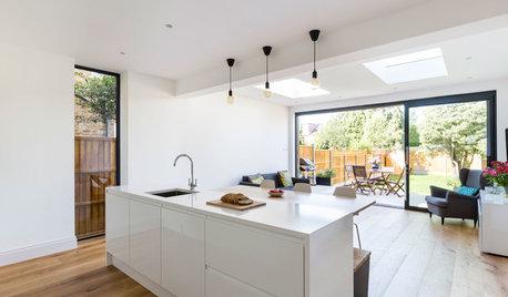 今週のキッチン:屋外につながる、明るいキッチンにリノベーション