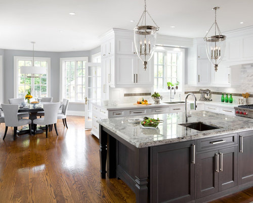 Houzz | Two-Tone Kitchen Cabinets Design Ideas & Remodel Pictures