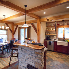 Rustic Kitchen by Frameworks Timber