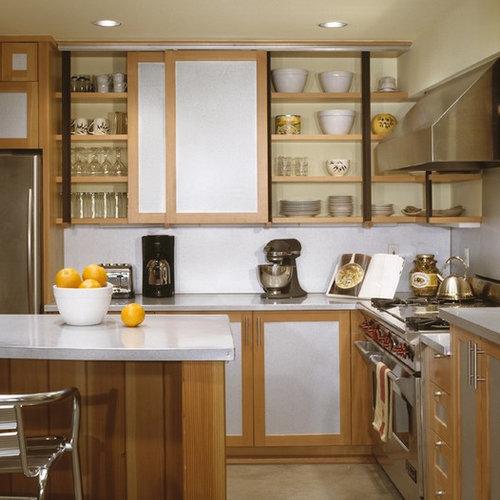 Accordion door cabinet houzz - Accordion kitchen cabinet doors ...