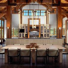 Rustic Dining Room by Rocky Mountain Homes