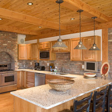 Rustic Kitchen by Habitat Post & Beam, Inc.
