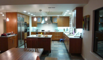 Slate and glass kitchen remodel
