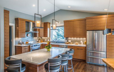 New This Week: 4 Contemporary Kitchens With Wood Cabinets