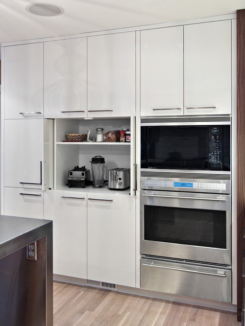 Pocket Door Appliance Garage | Houzz