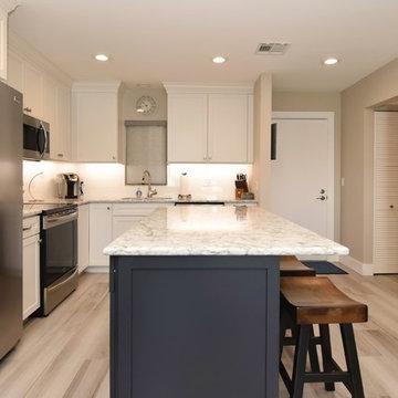 Sleek Blue & White Beach Condo - Sarasota Real Estate Photographer Rick Ambrose