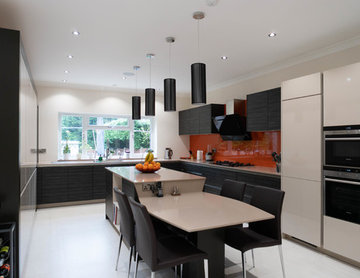 Sleek Dine-in Kitchen