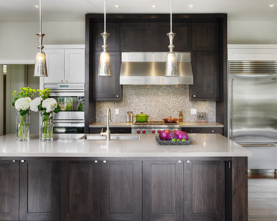 dark brown cabinets | houzz