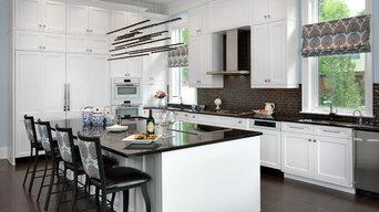 Sleek Transitional White Kitchen