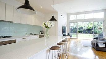 Sleek White Kitchen
