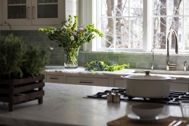 Home Design Ideas Pictures: Kitchen Of The Week: White And Gray And Storage-Packed