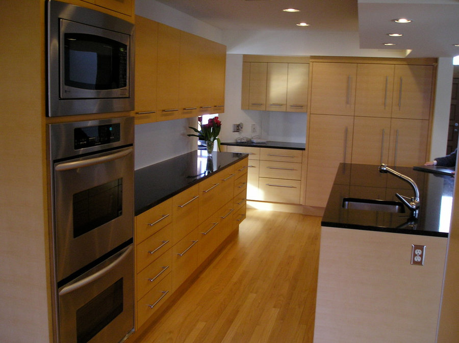 Slip Matched Quartered Maple Kitchen