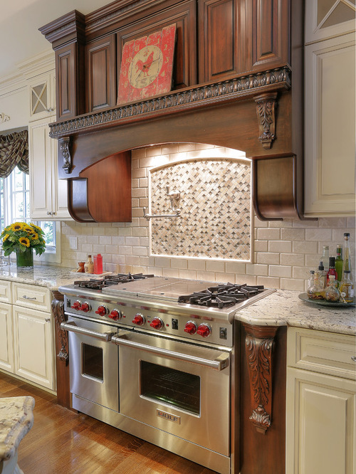 Texas Decor Rearranging The Tops Of My Kitchen Cabinets: Ornate Medallion Backsplash