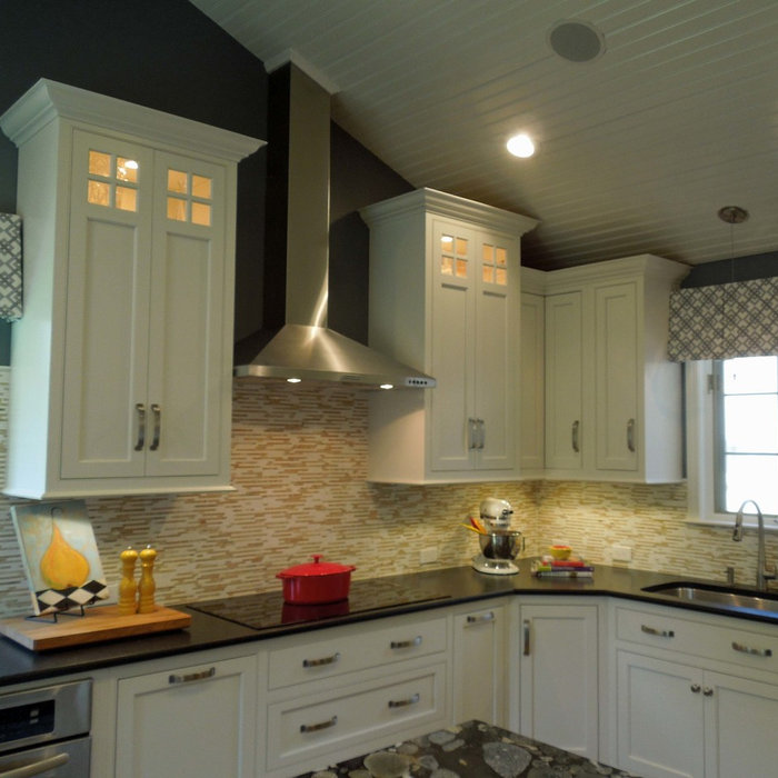 Bright White Kitchen Renovation in Bedford