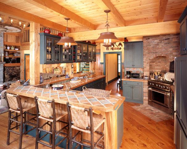 Rustic Kitchen by Habitat Post & Beam, Inc.