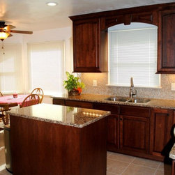 Traditional Kitchen Remodel with Cherry Cabinets and Cambria