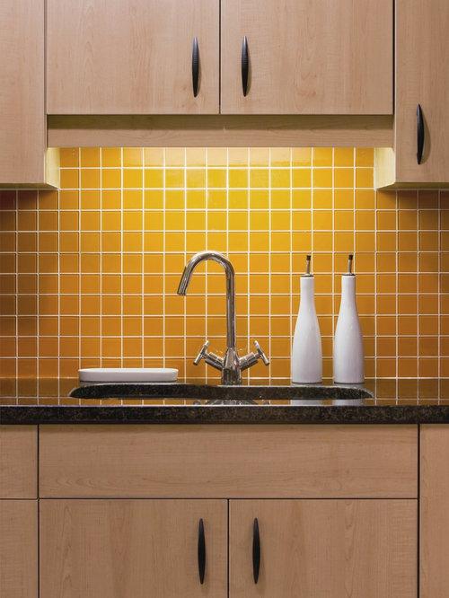 Kitchen Backsplash Yellow yellow backsplash | houzz