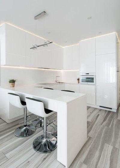 Moderno Cocina by Ajform Interiors