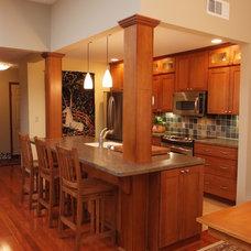 Traditional Kitchen by Hansen + Hill Interiors
