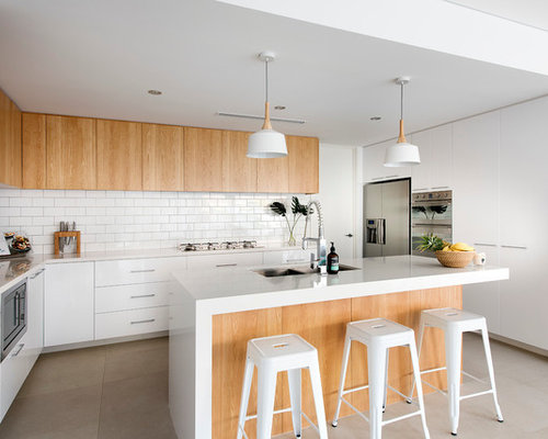white kitchen design images small houses houzz 1368