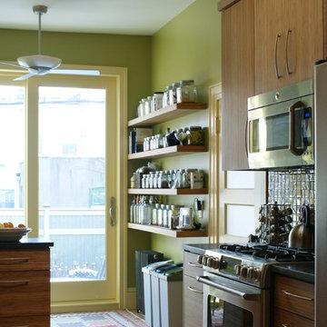 small bright kitchen