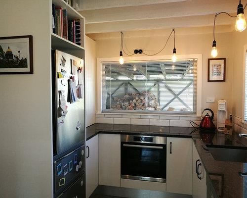 Cucina con pavimento in linoleum nuova zelanda foto e idee per