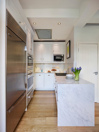 Transitional Kitchen by Moneyhill Interiors