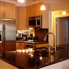 Contemporary Kitchen by Nancy Schnur, ASID CAPS