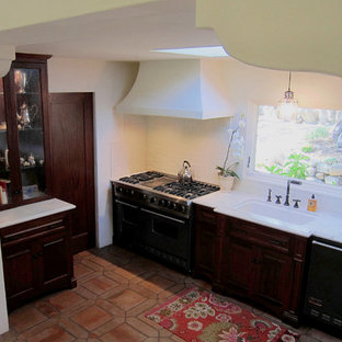 Small Spanish Style Kitchen in Santa Barbara home