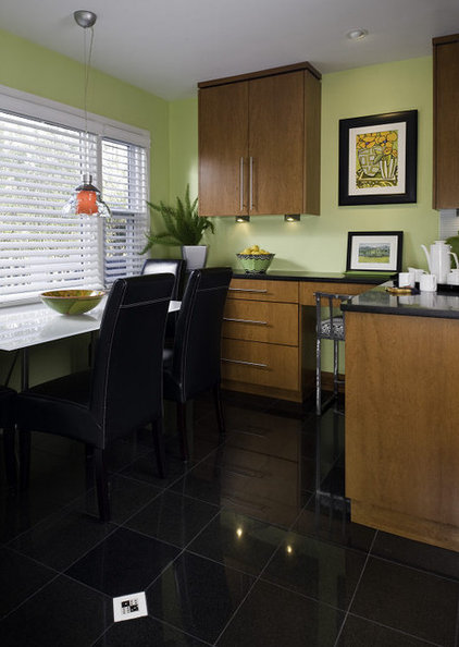 Transitional Kitchen by Interiors by Mary Susan