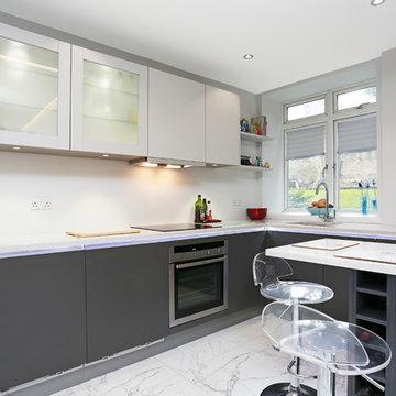 Small two tone kitchen